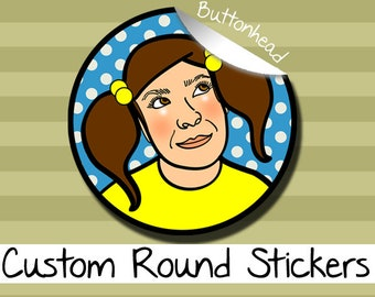 50 Custom Stickers - Wedding, Party, Promotional - Circle Stickers - 1.5, 2, or 2.5 Inch