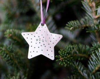 Wish Christmas Tree Ornament, Holiday Ornament, Christmas Tree Decor, Christmas Decoration, Holiday Decor, Gift for Friend, Gift for Teacher