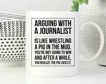 Journalist Mug, Journalist Gift, Journalist Coffee Mug, Journalist Gift Ideas, Journalism Mug, Journalism Gift, Journalism Coffee Mug