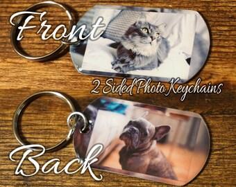 2 sided Photo Keychain  FREE SHIPPING, Custom Picture Key Chain, Custom Photo Keychain, personalized Keychain