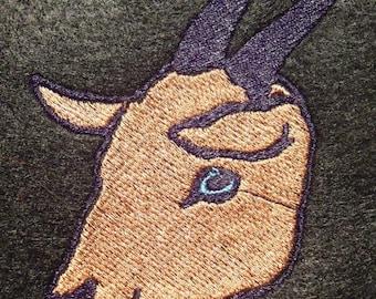 Goat embroidery design file