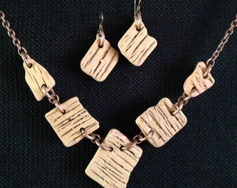 Lake Superior 1880's Brick Necklace