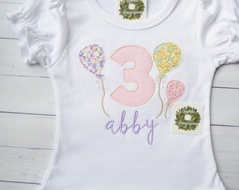 3rd Birthday Shirt for Girl, Girl 3rd Birthday Shirt, Girl Birthday Shirt, Birthday shirt for Girls, 3rd Birthday Shirt, Birthday Shirt