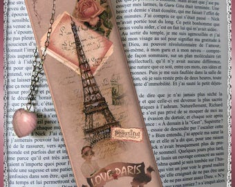 "Laminated bookmarks ""Love Paris"" Eiffel Tower, Paris, cheap gift idea"