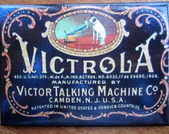 "Victrola Talking Machine Refrigerator Magnet 2.5""x 3.5"" Nipper The RCA Dog"