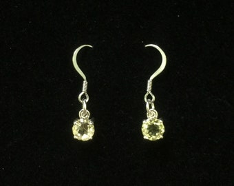 Pastel yellow citrine drop earrings.