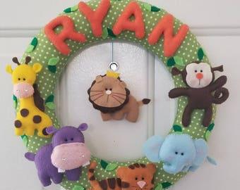 Handmade Felt Name Wreath