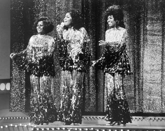 The Supremes Motown Group Glossy Black & White Music Print  7X5, 10x8 or A4 Photo