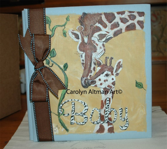 Giraffe and Baby a Baby Memory Book