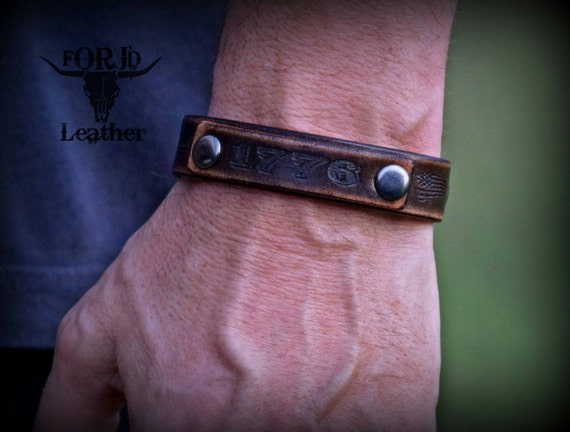 Leather 1776  bracelet.