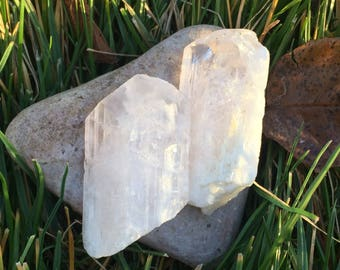 Large Terminated Light Pink Danburite - Heart Chakra Altar Stone Wire Wrapping