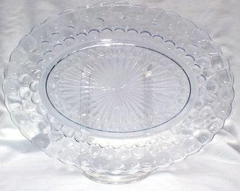 Blue Bubble Anchor Hocking Platter