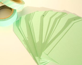 Set of 30 solid sea foam green blank tags