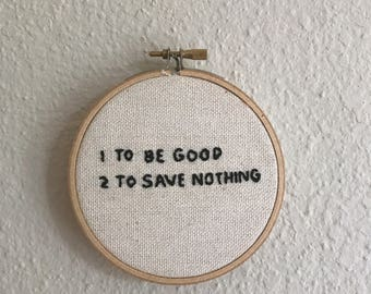 Dave Eggers Embroidery