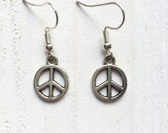 Earrings Peace & Love
