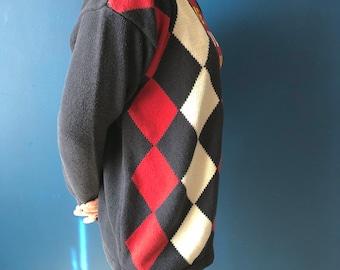 Argyle cotton cardigan small