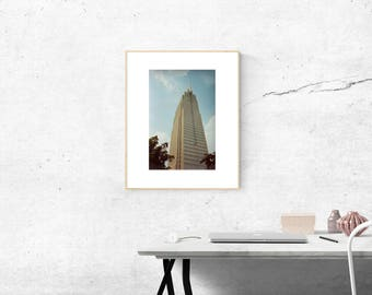 Sky scraper, Photography Print, Color Photography, Film Photography, Analog Poster, Minimal Design, Home Decor Poster
