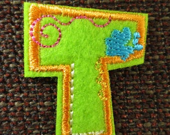 "Fusible letter ""T"" to apply or sewing"