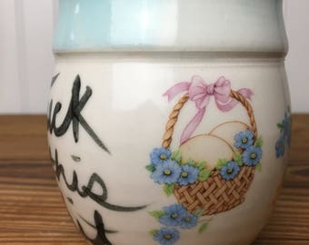 FTS Lamb and Egg Basket Mug