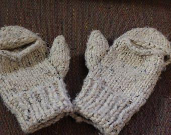 LARGE CONVERTIBLE thick mittens
