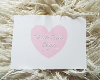 A5 mini print of original illustration - chub rub club