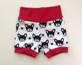 Dog Shorts / Hipster Baby Shorts / Baby Girl Shorts / Baby Boy Shorts / Bubble Shorts /