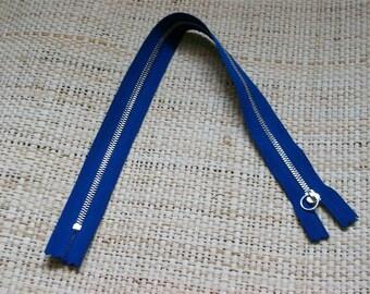 Size 38, 5cm, color blue zipper