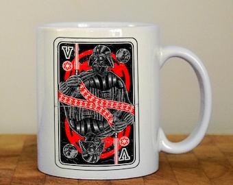 Star Wars playing cards mug, Darth Vader and Stormtrooper