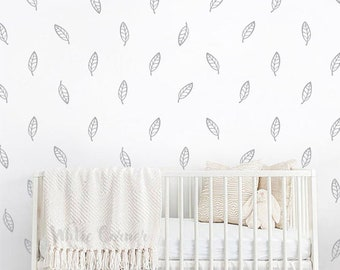 Leaves Wall Decals - leaves Wall Decal Set, Vinyl Wall Decals, Wall Decor, Nursery Wall Decals, Tree Leaves Wall Stickers ga24