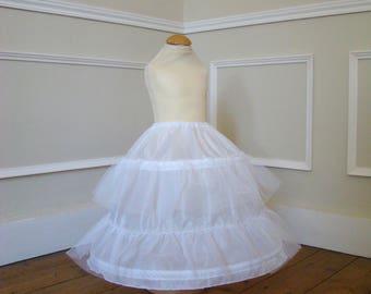 White petticoat with crinoline children 18 months to 10 years