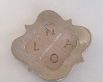 Cream NOLA Hurricane Katrina Memorial Pottery Dish