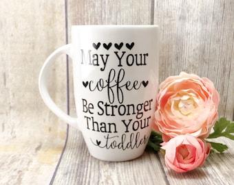 Extra large coffee mug, funny mom coffee mug, gift for new mom, toddler mom gift, coffee lover gift