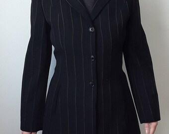 Alberto Aspesi '90 Black Wool Jacket Size S