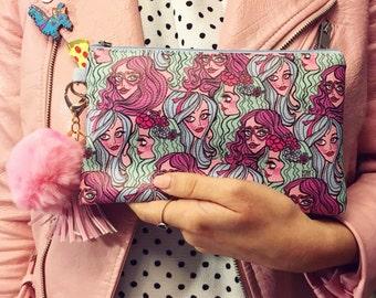 Bubblegum gang clutch bag