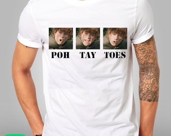 Lord Of The Rings POTATOES Samwise Gamgee LOTR Frodo Funny  T Shirt Kids Mens Any Size