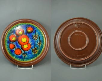Vintage wall plate / Carstens Tönnieshof / 5921 40 | West German Pottery | 70s