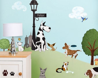 Cat and Dog Wall Decals Stickers for Nursery and Kids Room Wall Decor - JUMBO SET