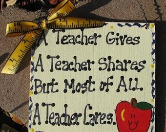 Teacher GIfts Handmade & Painted