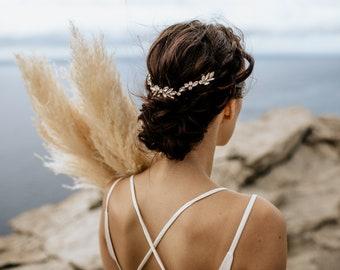 "Haarschmuck, Tiara, Gold Krone, Brautschmuck, Boho Haarband, Headpiece Style  ""Myla"""
