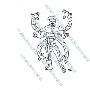 doctor octopus coloring pages - doctor octopus etsy