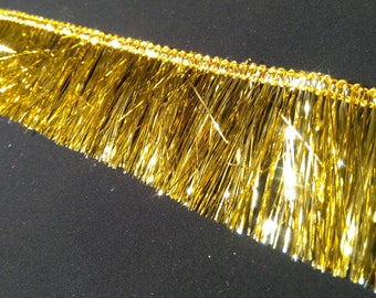 Braid Indian brilliant colors - gold fringe brilliant 4 cm wide