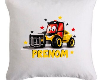 TRUCK pillow personalized with text of your choice