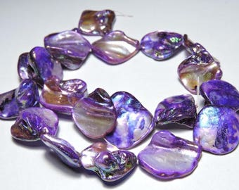 20 Pcs Attractive Natural Purple Coated Druzy/Druzy Beads/Coated Druzy/Druzy Silces/Size 23X20 - 20X16 MM