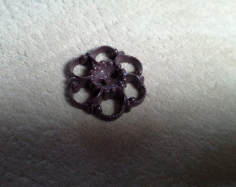 Brown Openwork Buttons