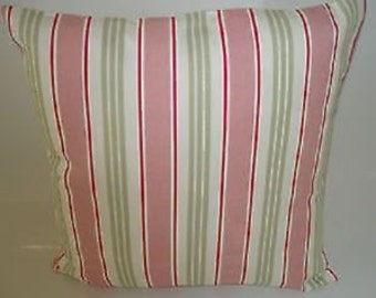 "Candy Pink Stripe Designer Pillowcase Sham Slips Accent Throw Pillow. ONE x 16"" (40cm)"