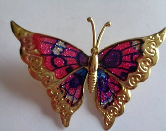 Fabulous Vintage Unsigned Lightweight Large Butterfly Brooch/Pin