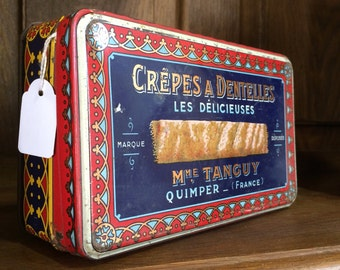 Vintage Brittany crepes tin
