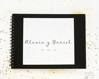 "Wedding Guest Book  Custom Guest Book ""Constellations"""