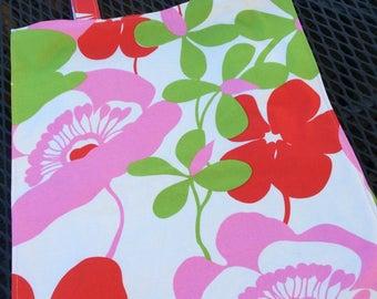grocery / farmers market tote - flowers
