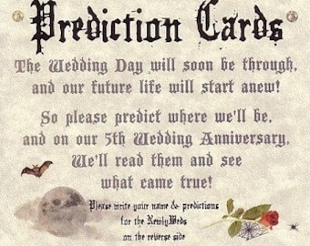 qty 200 Wedding Favors Halloween Gothic Graveyard Prediction Cards
